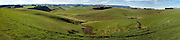 panoramic of Southland farmland, New Zealand