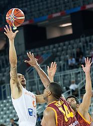 Worthy de Jong of Netherlands during basketball match between Netherlands and Macedonia at Day 2 in Group C of FIBA Europe Eurobasket 2015, on September 6, 2015, in Arena Zagreb, Croatia. Photo by Vid Ponikvar / Sportida