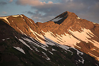 Sunrise on Purple Mountain in the Ruby Range near Crested Butte, Colorado.