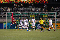June 15, 2018 - Portland, Oregon, U.S. - PORTLAND, OR - JUNE 15:Portland Timbers goal keeper Jeff Attinella makes a save on injury time during the Portland Timbers game versus the LA Galaxy in a United States Open Cup match on June 15, 2018, at Providence Park, OR. (Photo by Diego G Diaz/Icon Sportswire) (Credit Image: © Diego Diaz/Icon SMI via ZUMA Press)