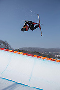 Nico Porteous, New Zealand, during the mens skiing halfpipe qualification at the Pyeongchang 2018 Winter Olympics on February 20th 2018, at the Phoenix Snow Park in Pyeongchang-gun, South Korea