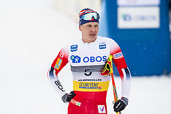 March 9, 2019 - Oslo, NORWAY - 190309 Simen Hegstad Krüger of Norway looks dejected after the men's 50 km classic technique during the FIS Cross-Country World Cup on March 9, 2019 in Oslo..Photo: Fredrik Varfjell / BILDBYRÃ…N / kod FV / 150211. (Credit Image: © Fredrik Varfjell/Bildbyran via ZUMA Press)
