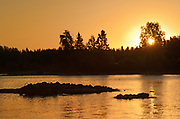 Setting Lake at sunrise<br />