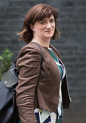 Downing Street,  London, June 27th 2015. Education Secretary Nicky Morgan leaves the first post-Brexit cabinet meeting at 10 Downing Street.