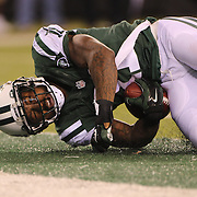 Jeremy Kerley, New York Jets, scores a touchdown during the New York Jets Vs Chicago Bears, NFL regular season game at MetLife Stadium, East Rutherford, NJ, USA. 22nd September 2014. Photo Tim Clayton for the New York Times