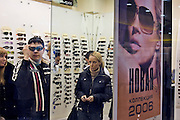 Yekaterinburg, Russia, 02/04/2006..Shoppers in the newly opened Park House shopping mall.