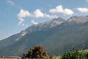 Neustift im Stubaital The Austrian Alps as seen from the towns centre