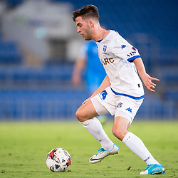BRISBANE, AUSTRALIA - SEPTEMBER 20: Nick Epifano of South Melbourne in action during the Westfield FFA Cup Quarter Final match between Gold Coast City and South Melbourne on September 20, 2017 in Brisbane, Australia. (Photo by Gold Coast City FC / Patrick Kearney)