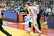DESCRIZIONE : Venezia Lega A 2015-16 Umana Reyer Venezia - Giorgio Tesi Group Pistoia<br /> GIOCATORE : Vincenzo Esposito Luca Severini<br /> CATEGORIA : Fair Play Ritratto<br /> SQUADRA : Umana Reyer Venezia - Giorgio Tesi Group Pistoia<br /> EVENTO : Campionato Lega A 2015-2016<br /> GARA : Umana Reyer Venezia - Giorgio Tesi Group Pistoia<br /> DATA : 18/04/2016<br /> SPORT : Pallacanestro <br /> AUTORE : Agenzia Ciamillo-Castoria/G. Contessa<br /> Galleria : Lega Basket A 2015-2016 <br /> Fotonotizia : Venezia Lega A 2015-16 Umana Reyer Venezia - Giorgio Tesi Group Pistoia