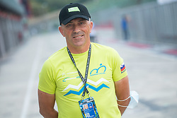 Gorazd Penko, coach of Slovenia during Women Time Trial at UCI Road World Championship 2020, on September 24, 2020 in Imola, Italy. Photo by Vid Ponikvar / Sportida