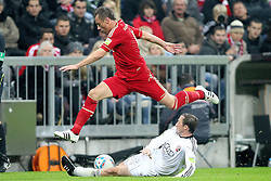 26.10.2011, Allianz Arena, Muenchen, GER, DFB Pokal, 2. Runde, FC Bayern Muenchen vs FC Ingolstadt, im Bild  Ivica Olic (Bayern #11) wird von Tobias Fink (Ingolstadt #15) gestoppt// during the Pokal fight second Round from GER FC Bayern Muenchen vs FC Ingolstadt , on 2011/10/26, Allianz Arena, Munich, Germany, EXPA Pictures © 2011, PhotoCredit: EXPA/ nph/  Straubmeier       ****** out of GER / CRO  / BEL ******