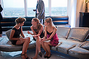 ALEX EVANS; BEANY GAY; LYDIA ZACHARIS;  THE launch of Coutts london jewelry week. Altitude 360. Millbank.  9 June 2009