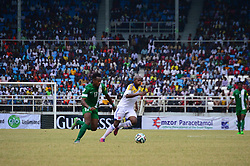 Nov. 18, 2015 - Port Harcourt, Nigeria - Nigeria's Onazi Ogenyi fights for the ball with Swaziland Zweli Nxumalo during the 2018 world cup qualifier match between the Nigeria and swaziland  teams  at Adokie Amiesiemaka Stadium in Port Harcourt, Nigeria  17 NOV 2015   (Credit Image: RealTime Images)