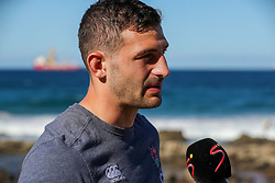 Jonny May (Leicester Tigers) during the England Press Conference at the  Kashmir restaurant, and Umhlanga beach, Durban,South Africa.06,06,2018 Photo by (Steve Haag)