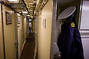 Naval Lieutenant's uniform belonging a Weapons Engineering Officer aboard HMS Vigilant, a Vanguard class nuclear submarine.