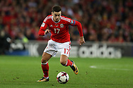 Tom Lawrence of Wales in action. Wales v Rep of Ireland , FIFA World Cup qualifier , European group D match at the Cardiff city Stadium in Cardiff , South Wales on Monday 9th October 2017. pic by Andrew Orchard, Andrew Orchard sports photography