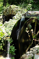July 2007: Water wheel.   Attractions near Chattanooga Tennessee.  Rock City - Lookout Mountain, Ga.