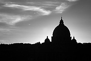 Evening Silhouette, Rome, Italy