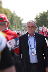 Pat McQuaid (France) - Presidend of UCI, rduring the the Women´s Elite Road Race on day five of the UCI Road World Championships on September 24, 2011 in Copenhagen, Denmark. (Photo by Marjan Kelner / Sportida Photo Agency)