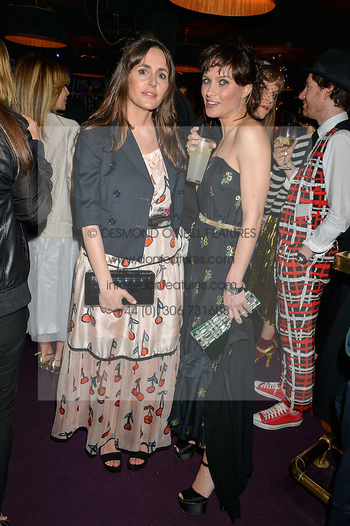 Left to right, TANIA FARES and SHEHERAZADE GOLDSMITH at Hoping's Greatest Hits - the 10th Anniversary of The Hoping Foundation's charity benefit held at Ronnie Scott's, 47 Frith Street, Soho, London on 16th June 2016.