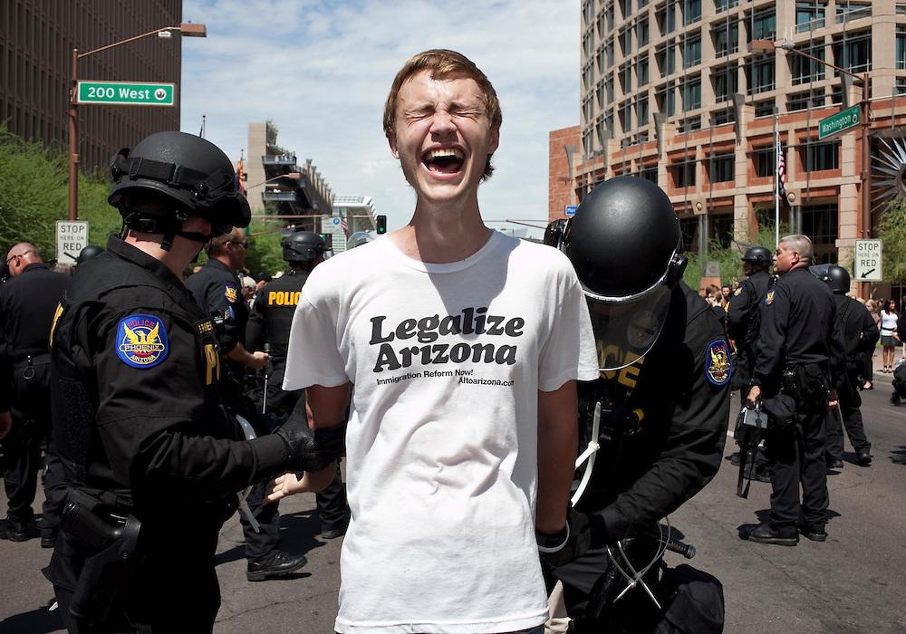 Immigration protest, Phoenix, Arizona