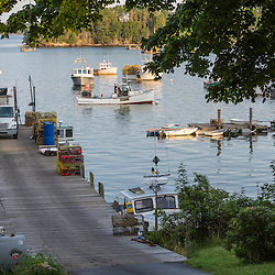 The wharf at the Wallace's Lobster in Friendship, Maine.