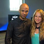NLD/Amsterdam/20130917 - Rapper Mr. Probz, met Diana Janssen