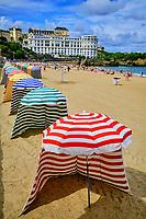 France, Pyrénées-Atlantiques (64), Pays Basque, Biarritz, la grande plage de Biarritz // France, Pyrénées-Atlantiques (64), Basque Country, Biarritz, the big beach of Biarritz1