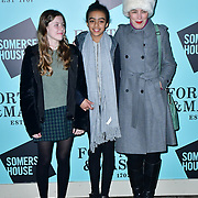 Olivia Williams arrivers Skate at Somerset House with Fortnum & Mason Launch party, London, Somerset House, 12 November 2019, London, UK.