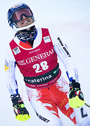 29.12.2016, Deborah Compagnoni Rennstrecke, Santa Caterina, ITA, FIS Ski Weltcup, Santa Caterina, alpine Kombination, Herren, Slalom, im Bild Krystof Kryzl (CZE) // Krystof Kryzl of Czech Republic reacts after his run of Slalom competition for the men's Alpine combination of FIS Ski Alpine World Cup at the Deborah Compagnoni race course in Santa Caterina, Italy on 2016/12/29. EXPA Pictures © 2016, PhotoCredit: EXPA/ Johann Groder