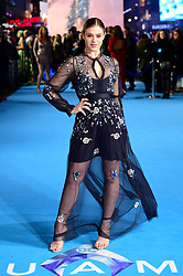 Laura Crane attending the Aquaman premiere held at Cineworld in Leicester Square, London.