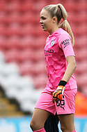 Manchester City goalkeeper Ellie Roebuck (26) Portrait half body during the FA Women's Super League match between Manchester United Women and Manchester City Women at Leigh Sports Village, Leigh, United Kingdom on 14 November 2020.