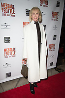 Trudie Styler at the Message in a Bottle press night , Peacock Theatre, London