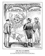 """The Hall of Mirrors. """"Now then, Fritz, which of them IS me?"""" [A new Foreign Publicity Department has been announced by the Prime Minister.]"""