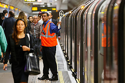 © Licensed to London News Pictures. 05/08/2015. London, UK. Commuters queuing for tube trains Green Park tube station ahead of the Tube strike in the evening rush hour of Wednesday, August 5, 2015. The strike will be a 27-hour stoppage by about 20,000 Tube staff to shut down the entire London Underground network on the second strike over night `service on parts of Tube, which will be starting on 12 September 2015. Photo credit: Tolga Akmen/LNP