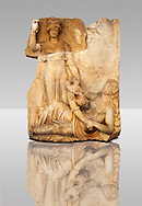 Photo of Roman releif sculpture of Roma & Ge [ Earth ] from  Aphrodisias, Turkey, Images of Roman art bas releifs. Buy as stock or photo art prints.
