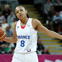 07 August 2012: France Edwige Lawson-Wade sets a play during 71-68 Team France victory over Team Czech Republic, during the women's basketball quarter-finals, at the Basketball Arena, in London, Great Britain.