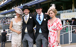 Racegoers during day two of Royal Ascot at Ascot Racecourse.