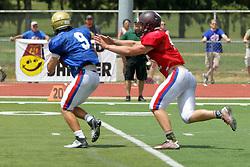 17 June 2017:  Illinois Shriner High School All Stars Football At Tucci Stadium in Bloomington Illinois