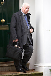 © licensed to London News Pictures. London, UK 13/11/2012. Chairman of the BBC Trust, Lord Chris Patten leaving his house on November 13, 2012. Photo credit: Tolga Akmen/LNP