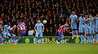 Crystal Palace's Jason Puncheon scores his sides second goal <br /> <br /> Photographer Ashley Western/CameraSport<br /> <br /> Football - Barclays Premiership - Crystal Palace v Manchester City - Monday 6th April 2015 - Selhurst Park - London<br /> <br /> © CameraSport - 43 Linden Ave. Countesthorpe. Leicester. England. LE8 5PG - Tel: +44 (0) 116 277 4147 - admin@camerasport.com - www.camerasport.com