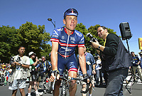 CYCLING - TOUR DE FRANCE 2004 - STAGE 11 - SAINT FLOUR > FIGEAC - 15/07/2004 - PHOTO : NICO VEREECKEN /Digitalsport<br /> LANCE ARMSTRONG (USA) / US POSTAL - BERRY FLOOR