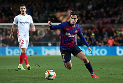 January 30, 2019 - Barcelona, Spain - Philippe Coutinho during the match between FC Barcelona and Sevilla FC, corresponding to the secong leg of the 1/4 final of the spanish cup, played at the Camp Nou Stadium, on 30th January 2019, in Barcelona, Spain. Photo: Joan Valls/Urbanandsport /NurPhoto. (Credit Image: © Joan Valls/NurPhoto via ZUMA Press)