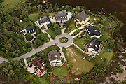 Aerial view of a residential development Mount Pleasant, SC.