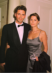 Musician SACHA SKARBECK and actress RONA MITRA,<br />  at a ball in London on 18th June 1998.MIO 56