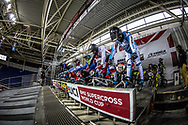 #128 (BARBOSA Enzo) FRA at Round 2 of the 2019 UCI BMX Supercross World Cup in Manchester, Great Britain