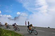 Primoz Roglic (SLO - Team LottoNL - Jumbo), Tom Dumoulin (NED - Team Sunweb), Geraint Thomas (GBR - Team Sky) during the 105th Edition of Tour de France 2018, cycling race stage 19, Lourdes - Laruns (200 km) on July 27, 2018 in Laruns, France - photo Kei Tsuji / BettiniPhoto / ProSportsImages / DPPI