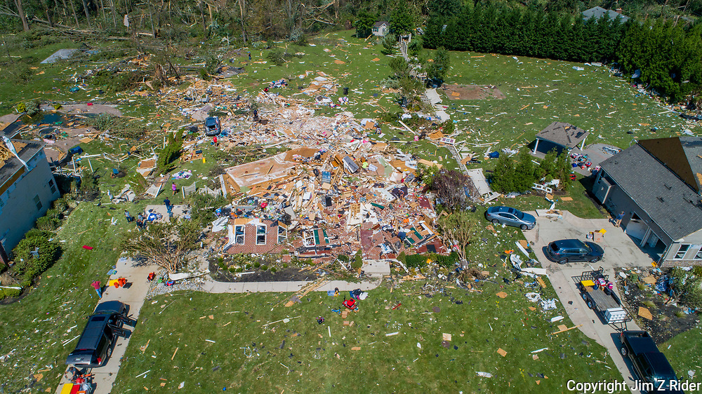 Several homes in Mullica Hill, New Jersey were destroyed or severely damaged Wednesday as Ida's remnants caused major flooding and spawned several tornadoes in Pennsylvania and New Jersey.