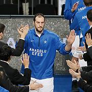 Anadolu Efes's Ermal Kurtoglu during their Turkish Basketball League match Anadolu Efes between Erdemir at Arena in Istanbul, Turkey, Wednesday, January 28, 2012. Photo by TURKPIX