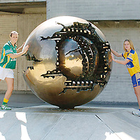22 August 2007; Sinead Brennan, left, Leitrim, and Majella Griffin, Clare, who are representing two of the remaining teams in the Senior and Intermediate Championships which will be broadcast on TG4. The semi-finals for both competitions are on consecutive weekend's starting Saturday 25th August 2007. TG4 will broadcast a live doubleheader from Portlaoise this Saturday starting at 5.15pm and a second doubleheader from Breffni Park the following Saturday. Dublin University Cricket Grounds, Trinity College, Dublin. Picture credit: Ray Lohan / SPORTSFILE *** NO REPRODUCTION FEE ***